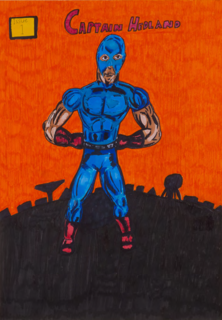 Layne Dhu-Dickie (Spinifex Hill Artists), Captain Hedland (10 pages), 2017, texta on arches paper, 61 x 42cm