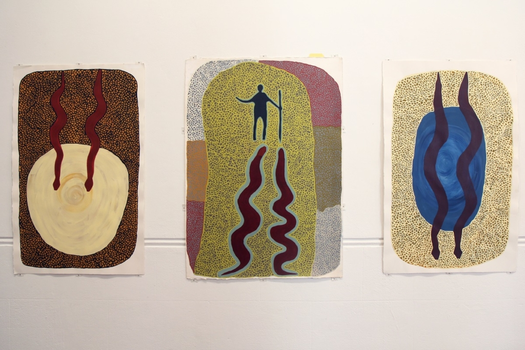 Desmond Taylor, Martumili Artists, Niminjarra, 2020, acrylic on arches paper, 101 x 66cm each