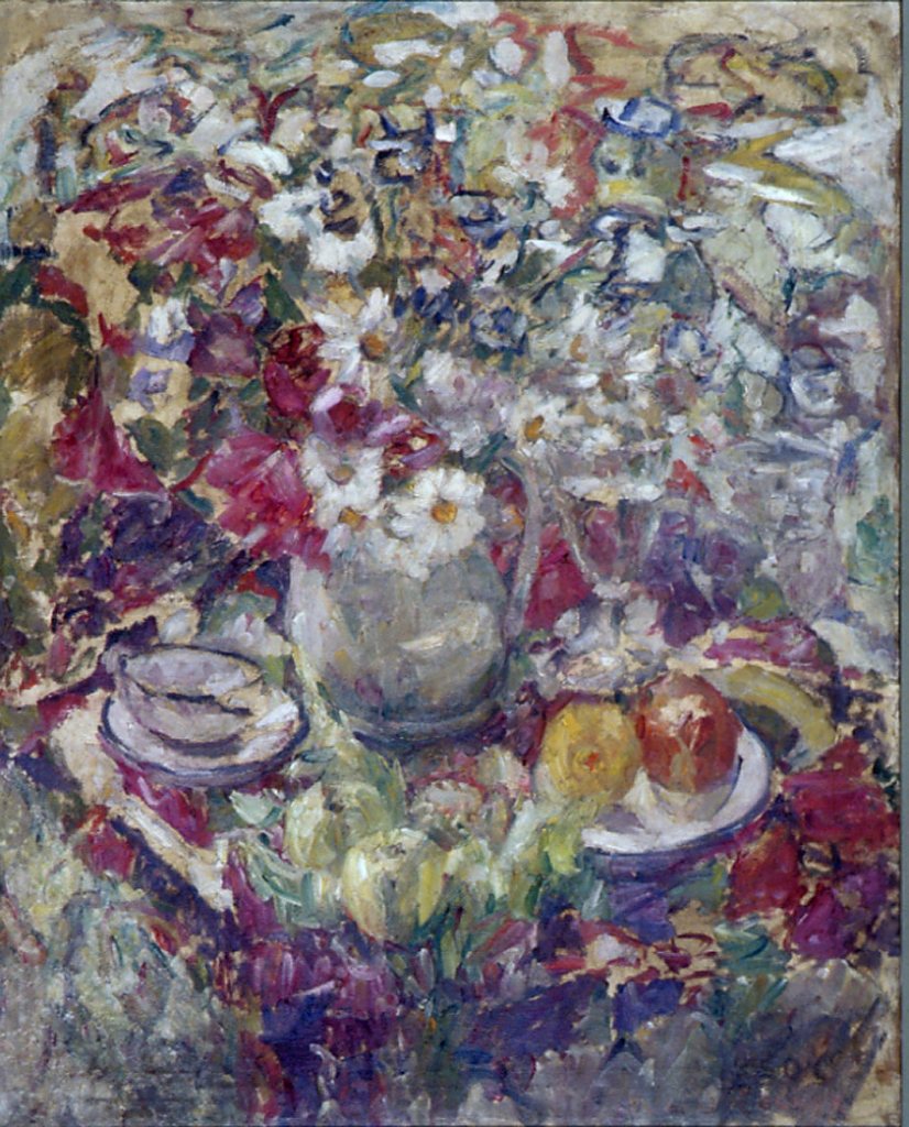 Kathleen O'Connor (1876-1968), Still Life with Flowers, c1935-9, oil paint on canvas, 90 x 72.5 cm, no. 218, Courtesy Kathleen O'Connor Advisory Committee