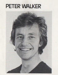 A headshot of Peter Walker from a FAC exhibition catalogue, circa 1978