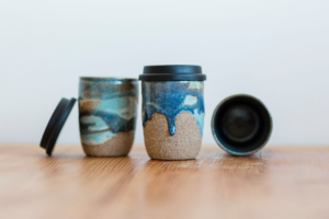Keep cups by Deep Earth Ceramics. Image courtesy the artist
