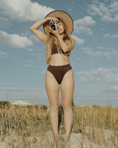Swimwear designed by local label KIN SWIM