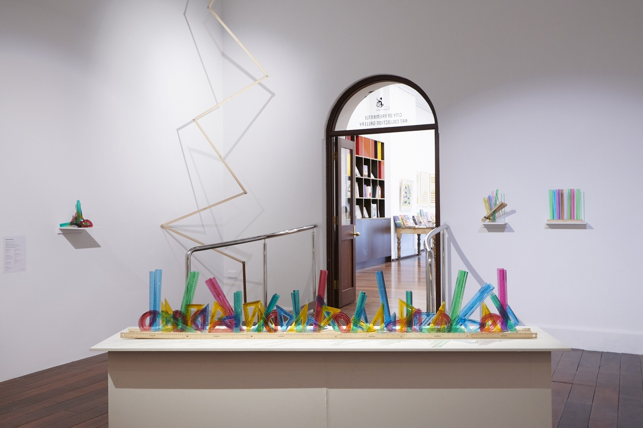 Maxxi Minaxi May, The light crystals, 2021, FSC wood and plastic rulers, glue, 33 x 11 x 198cm. Photography by Rebecca Mansell
