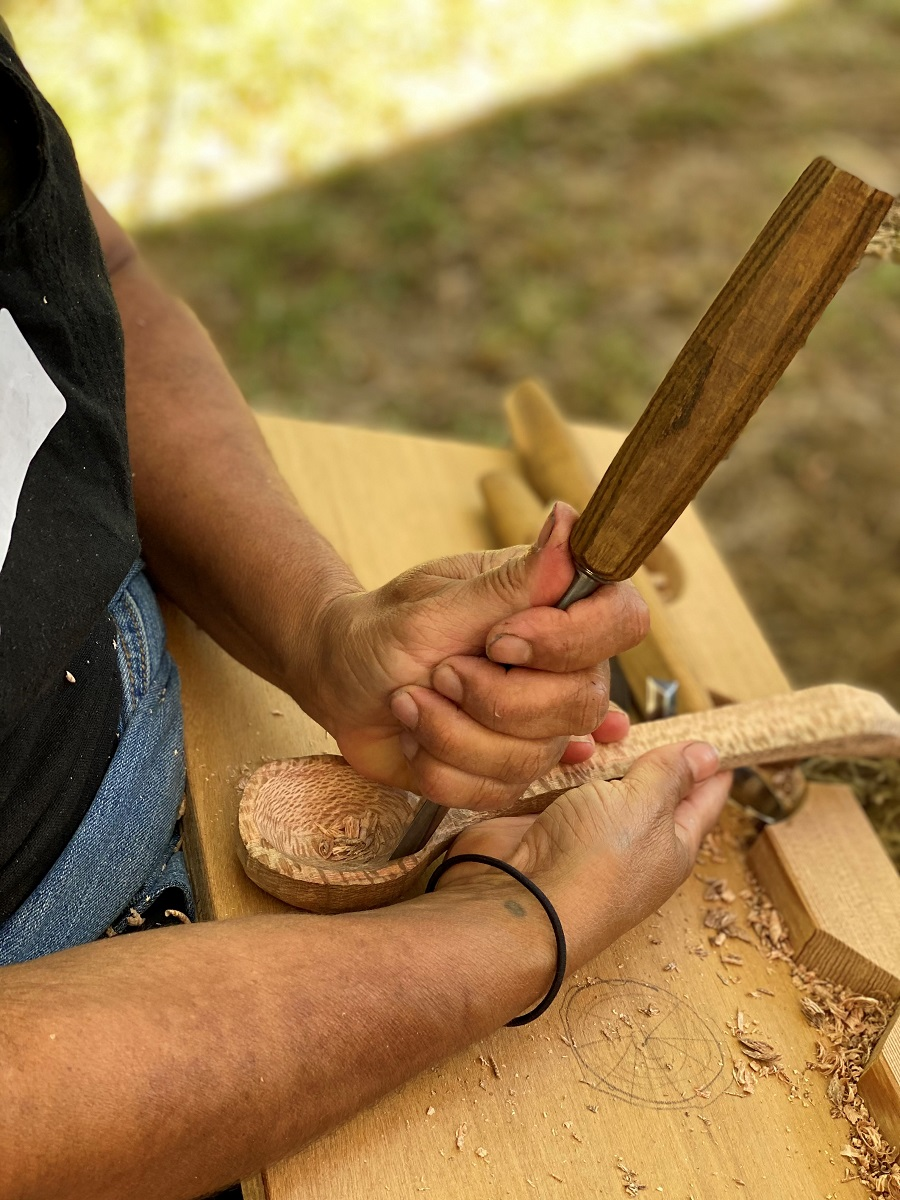 Wood carving spoons. Image courtesy of Greg Miller